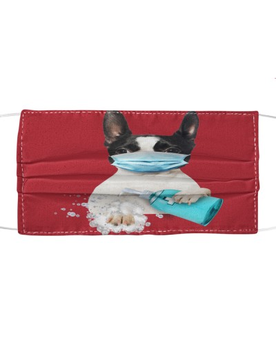 Boston Terrier-Face Mask-Wash