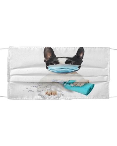 Boston Terrier-Face Mask-Wash