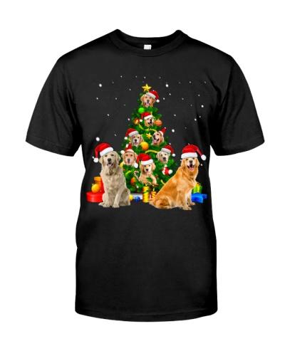 Golden Retriever-Christmas Tree-1