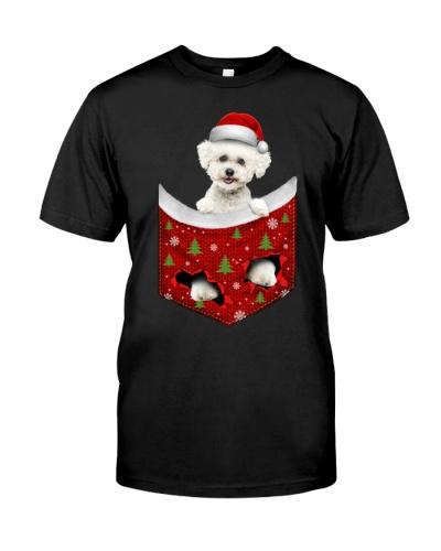 Bichon Frise-Christmas Pocket