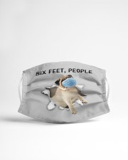 Pug Six Feet People FM Cloth face mask aos-face-mask-lifestyle-22