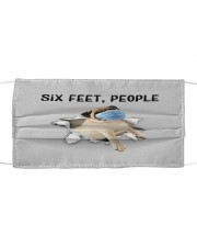 Pug Six Feet People FM Cloth face mask front
