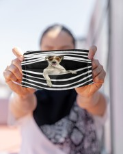 Parson Russell Terrier Stripes FM Cloth face mask aos-face-mask-lifestyle-07