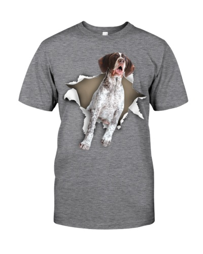 German Shorthaired Pointer - Torn Paper