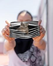 Savannah Cat Stripes FM Cloth face mask aos-face-mask-lifestyle-07