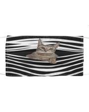 Savannah Cat Stripes FM Cloth face mask front