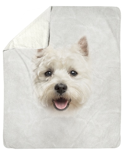 West Highland White Terrier Face 3D