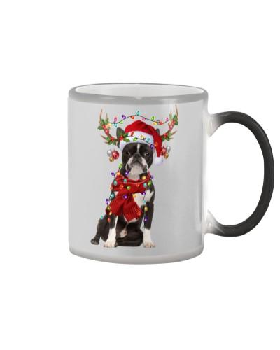Boston Terrier-Reindeer