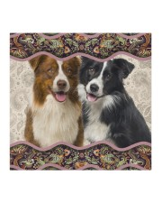 Border Collie Boho Pattern FM Cloth face mask aos-face-mask-coverlet-lifestyle-front-02