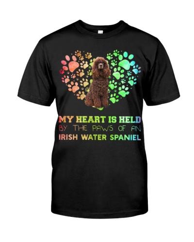 Irish Water Spaniel Heart Paw