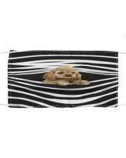Buff Cocker Spaniel Stripes FM Cloth face mask front