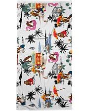 Basset Hound Summer Beach  Bath Towel tile