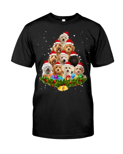 Christmas tree-Goldendoodle