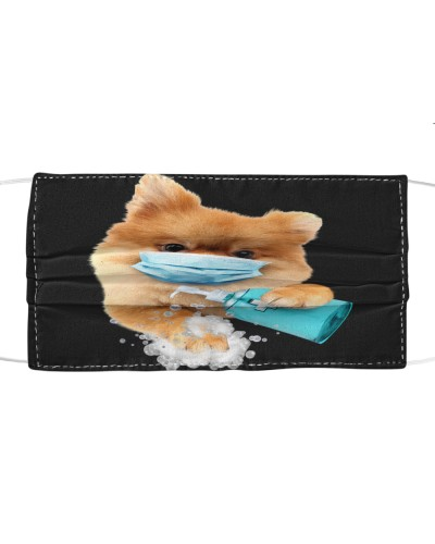 Pomeranian-Face Mask-Wash