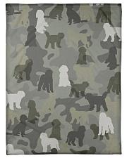 "Labradoodle-camouflage Small Fleece Blanket - 30"" x 40"" thumbnail"