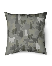 """Labradoodle-camouflage Indoor Pillow - 16"""" x 16"""" thumbnail"""