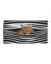 American Shorthair Cat Stripes FM Cloth face mask front