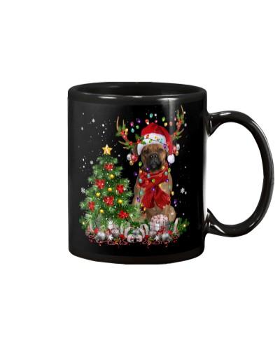 Cane Corso-Reindeer-Christmas