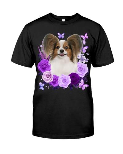 Papillon-Purple Flower