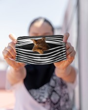 Abyssinian Cat Stripes FM Cloth face mask aos-face-mask-lifestyle-07