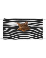 Abyssinian Cat Stripes FM Cloth face mask front