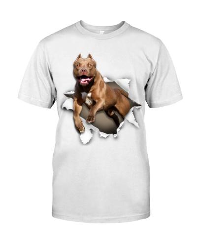 American Pit Bull Terrier-Torn Paper Effect