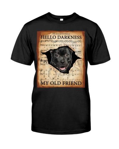 Staffordshire Bull Terrier Hello Darkness