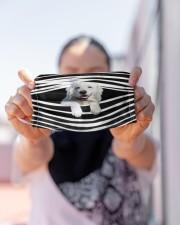 Maremma Sheepdog Stripes FM Cloth face mask aos-face-mask-lifestyle-07
