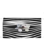 Maremma Sheepdog Stripes FM Cloth face mask front