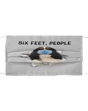 Cavalier King Charles Spaniel Six Feet People FM Cloth face mask front