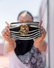 Plott Hound Stripes FM Cloth face mask aos-face-mask-lifestyle-07
