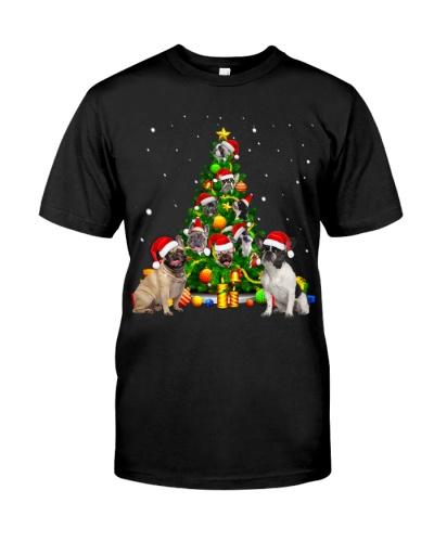 French Bulldogs-Christmas Tree