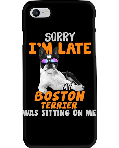 Boston Terrier-Sorry I'm Late