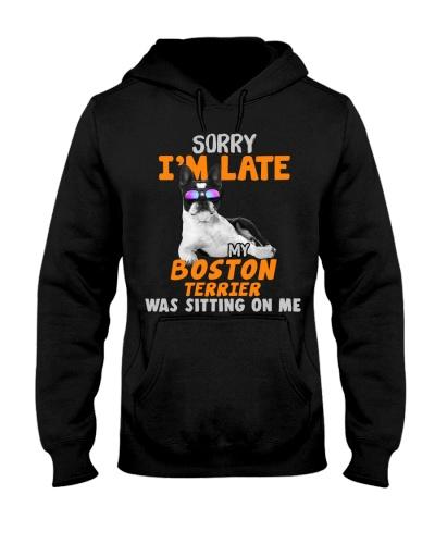 Boston Terrier-Sorry I'm Late