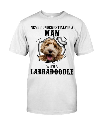 Man With A labradoodle
