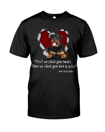 Rottweiler-Torn Paper Heart