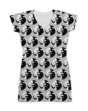 Cat - Yin Yang All-over Dress front