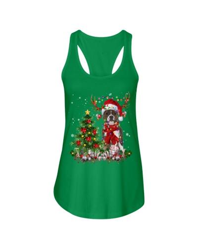 Staffordshire Bull Terrier-Reindeer-Christmas