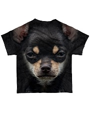 Chihuahua-Face and Hair All-over T-Shirt back
