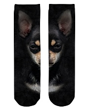 Chihuahua-Face and Hair Crew Length Socks tile