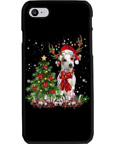 Jack Russell Terrier-Reindeer-Christmas