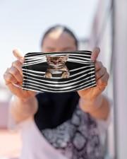 Bengal Cat Stripes FM Cloth face mask aos-face-mask-lifestyle-07
