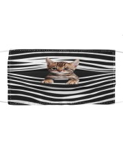 Bengal Cat Stripes FM Cloth face mask front