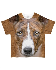 Basenji-Face and Hair All-over T-Shirt front