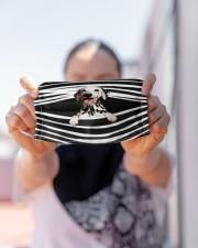 Dalmatian Stripes FM Cloth face mask aos-face-mask-lifestyle-07