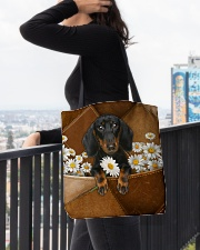 Dachshund-AOT-CS1149 All-over Tote aos-all-over-tote-lifestyle-front-05