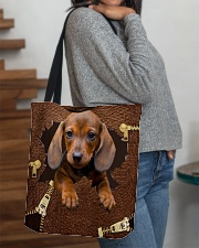 NT056-Dachshund-02 All-over Tote aos-all-over-tote-lifestyle-front-09
