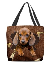 NT056-Dachshund-02 All-over Tote back
