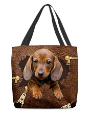 NT056-Dachshund-02 All-over Tote front