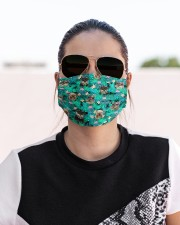 Schnauzer Summer Leaves FM Cloth face mask aos-face-mask-lifestyle-02
